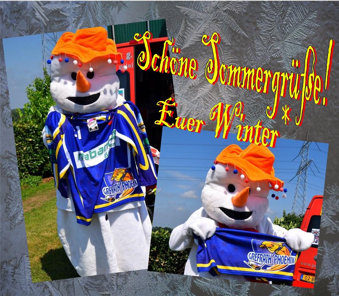 Schon schlanker: Der Schneemann (Fotos: Gerd Gisbertz)