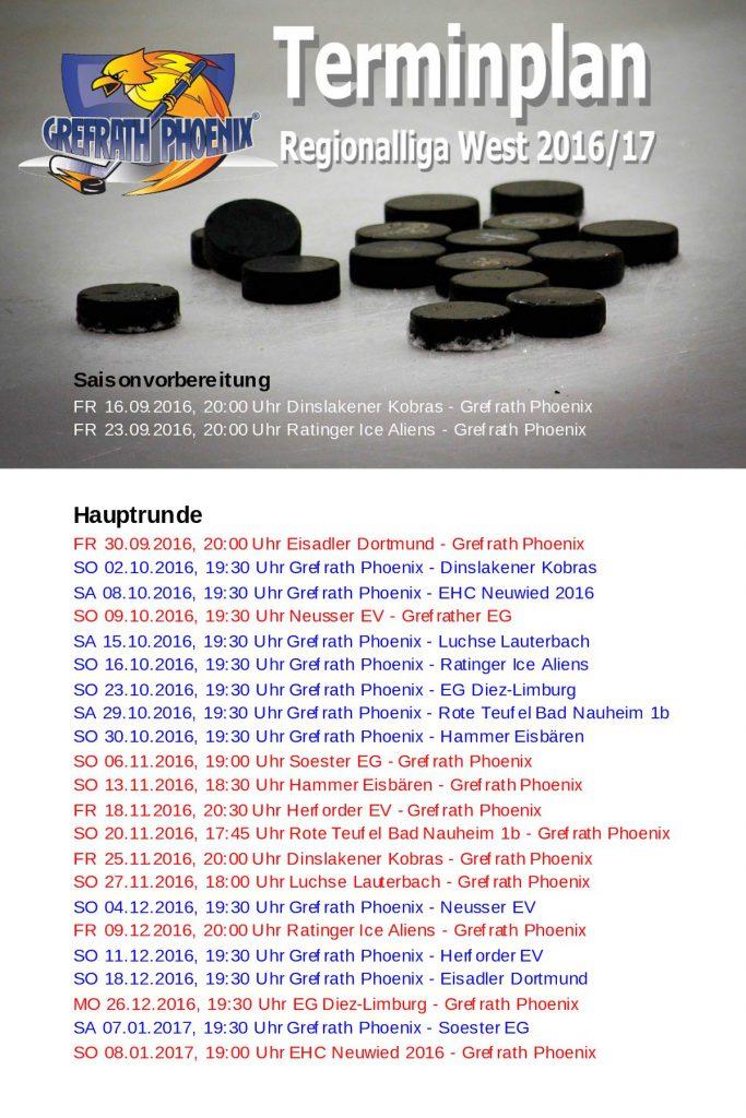 Terminplan 2016-17