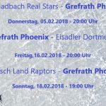 Anstrengendes Wochenende für den Phoenix - 3 Spiele in 4 Tagen